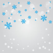 Snow fall. Abstract winter background. — Stock Vector