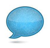 Xmas ice glossy speech bubble. — Stock Vector