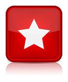Pulsante rosso lucido web con segno zodiacale. — Vettoriale Stock