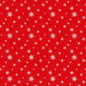 Seamless red pattern with snowflakes. — Stock Vector
