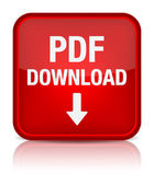 PDF download vierkante knop — Stockvector