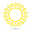 Stock Vector: Abstract sun icon