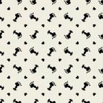 Stylish black cats pattern. — Stock Vector