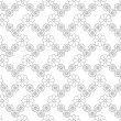 Stylish seamless floral pattern. Black and white. — Vettoriale Stock #18779911
