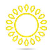 Abstract sun icon — Stock Vector