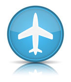 ícone do avião. cadastre-se com reflexão isolado no branco. — Vetorial Stock