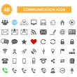 Communication icons for web — Stock Vector #31201901