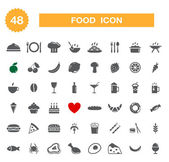 Food icon - set. — Stock Vector