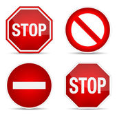 Stop-schild, set. — Stockvektor