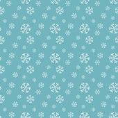 Seamless blue pattern with snowflakes. — Stock Vector