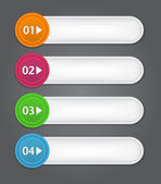 Set of bookmarks, stickers, labels, tags. Numbered banners. — Stock Vector