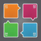 Plantilla de diseño moderno. puede ser utilizado para infografías. banderas numeradas. — Vector de stock