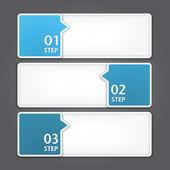Nowoczesny projekt szablonu. mogą być używane do infografiki. numerowane banery. — Wektor stockowy