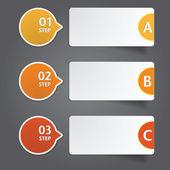 Nowoczesny projekt szablonu. mogą być używane do infografiki. — Wektor stockowy