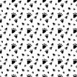 Seamless pattern with animal footprint. — Stock Vector