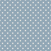 Eamless polka dot blue pattern with circles. — Stock Vector