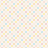 Seamless polka dot colorful pattern with squares. — Stock Vector