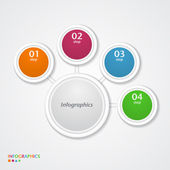 Abstracte infographics nummer opties sjabloon. — Stockvector