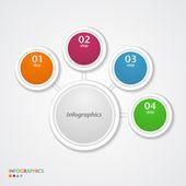 Abstrakt infographics nummer alternativ mall. — Stockvektor