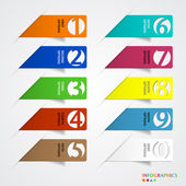 Abstract infographics number options template. — Vettoriale Stock