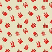 Modello senza saldatura con scatole regalo — Vettoriale Stock