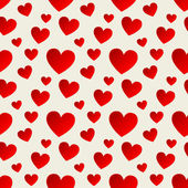 Seamless pattern with red hearts. Vector — Stock vektor