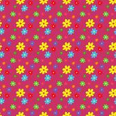 Seamless mönster med blommor. — Stockvektor