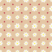 Seamless pattern with flowers. — Stock Vector