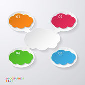 Speech bubble. Infographics template. Numbered banners — Stock Vector