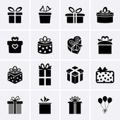 Iconos de regalo — Vector de stock