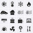 Heating and Cooling Icons — Stock Vector #47364887
