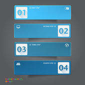Antal banners mall. grafik- eller webbplats layout — Stockvektor