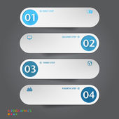 Number Banners Template. Graphic or website layout — Stock Vector