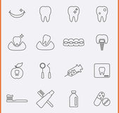 Dental Icons. — Stock Vector