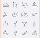 Food and Drink Icons. Vector — Stock Vector