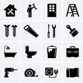Home repair and tools icons — Stock vektor