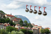 Cable car to Fort de La Bastille, Grenoble, Isere, South France — Stock Photo