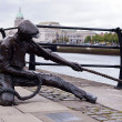 Stock Photo: Dublin, Linesmstatue Liffey
