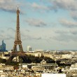 Stock Photo: View on Eiffel Tower and panorama of Paris