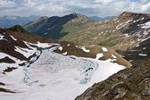 Veduta aerea delle alpi svizzere in estate — Foto Stock