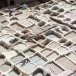 Stock Photo: Old Tannery in Fes, Morocco, Afric(detail)