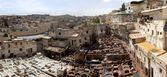 Alte gerberei in fes, marokko, afrika — Stockfoto