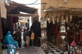 Market in Medina at Fes, Morocco, Africa — Stock Photo