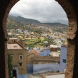 Framed View of Medina Through the Window of Kasbah, Chefchaouen, Morocco — Foto de Stock