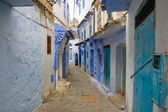 Blue Colored City Streets of Chefchaouen, Morocco — Stock Photo