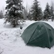 Tent Covered by Hoarfrost in Morning — Stock Photo #13852420
