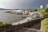 Sidewalk Along the Coast of Port in Plymouth — Stock Photo