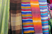 Colorful Shawls on Maroccan Market — Stock Photo