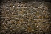 Old, Ragged Brick Wall Texture Made of Stones — Stock Photo