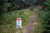 Borderline Bollard Along Footpath in Deep Forest — Stock Photo